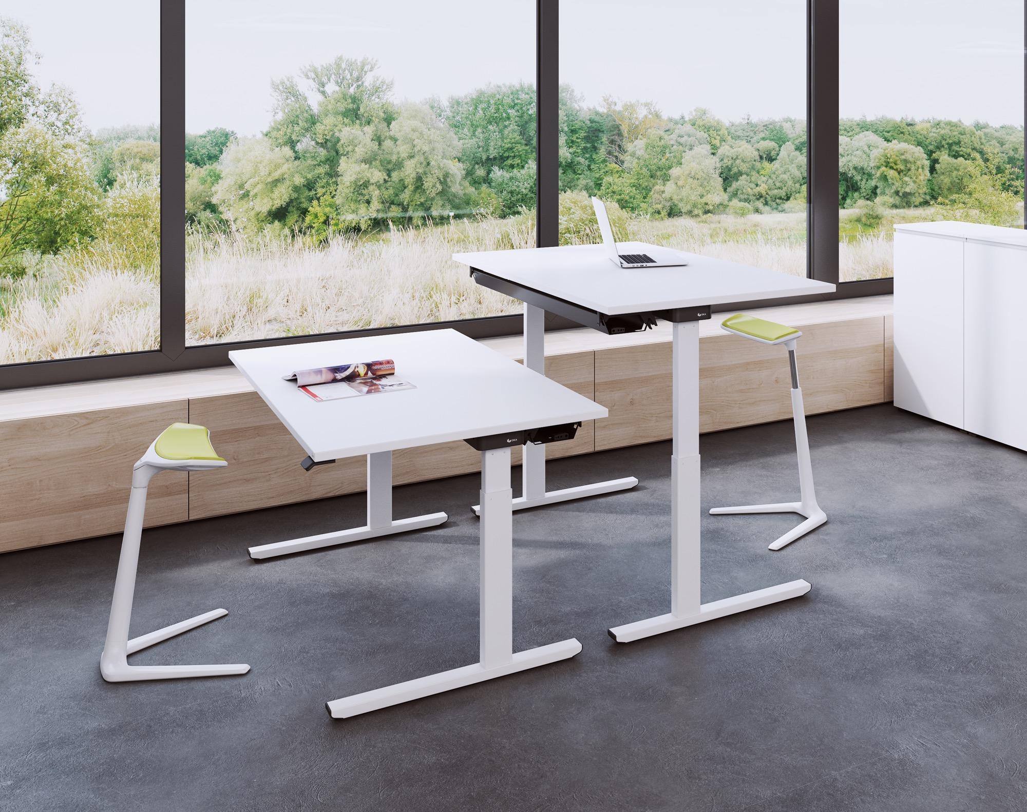 OKA EASYUP Arbeitsplatz Schreibtisch Doppelbüro