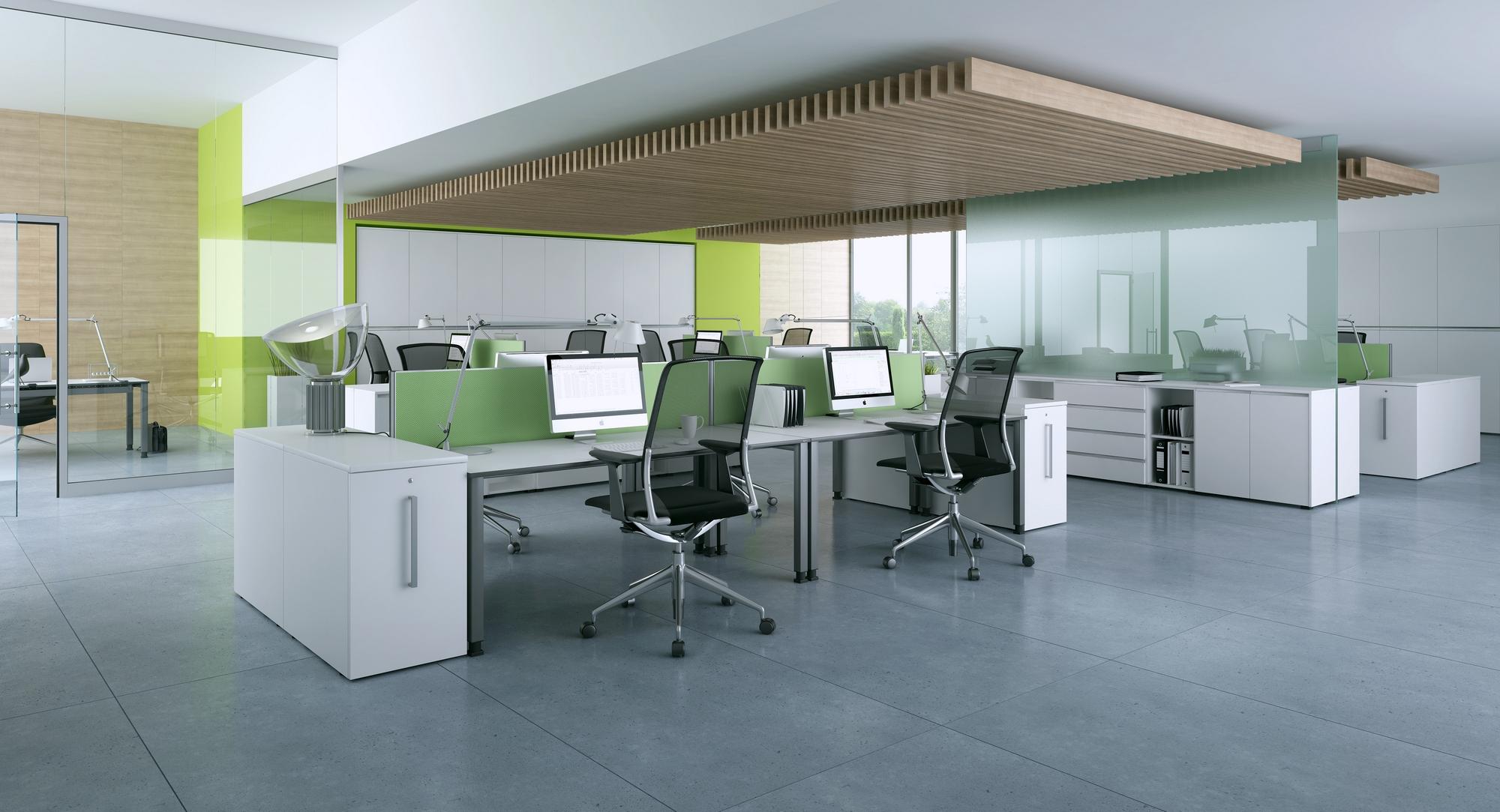OKA Großraumbüro Tische Arbeitsplatz Schreibtisch
