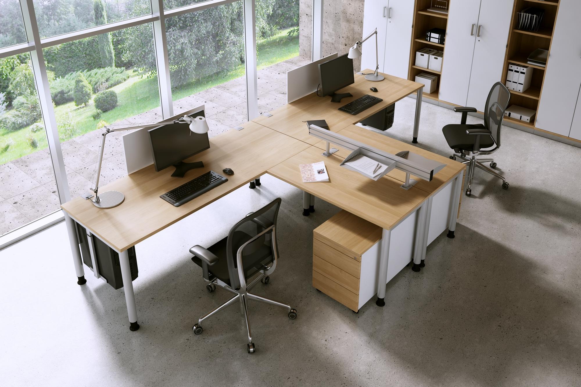 OKA Arbeitsplatz Schreibtisch Doppelbüro
