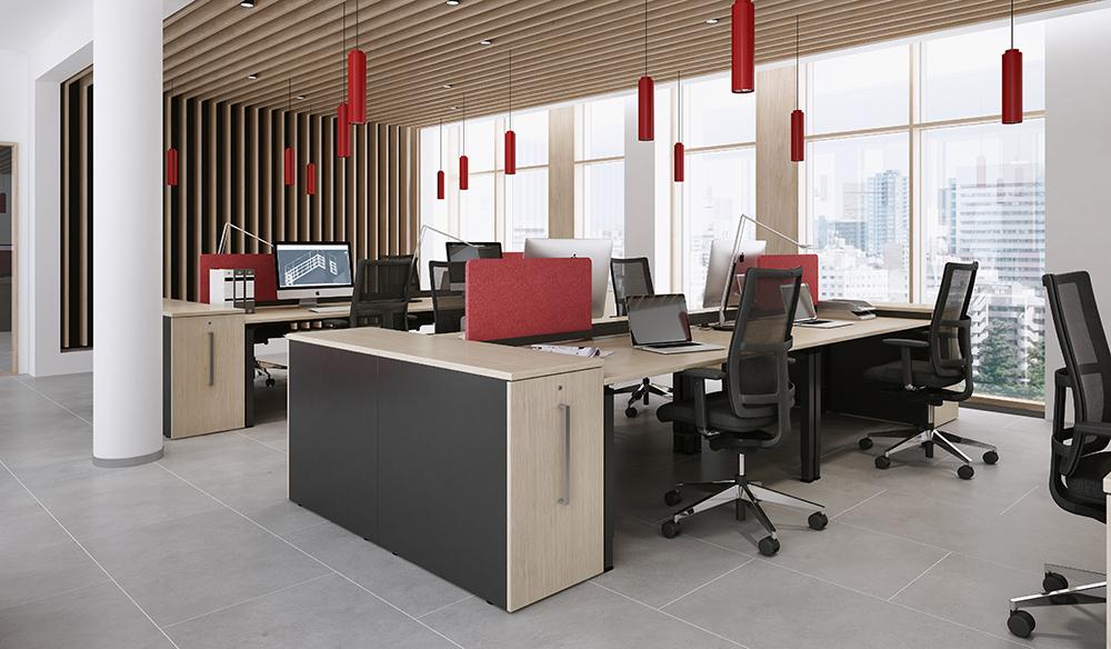 OKA R60 Q50 Großraumbüro Arbeitsplatz Tisch Arbeitstisch Schreibtisch