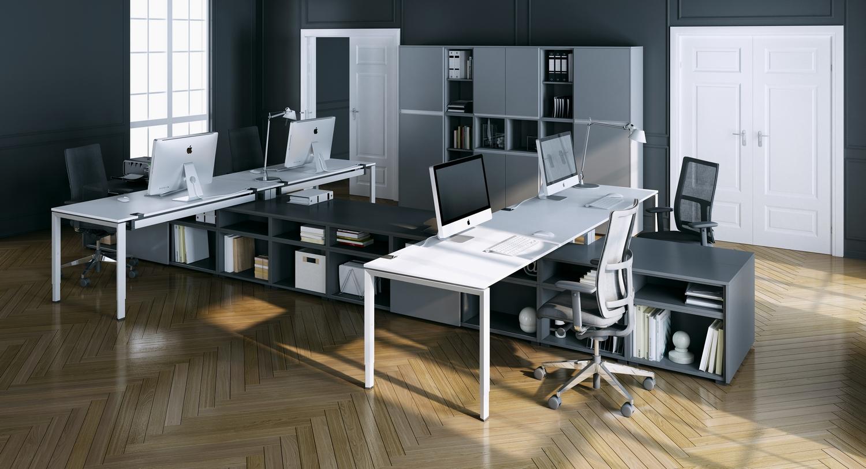 OKA Trion Arbeitsplatz gruppenbüro Schreibtisch