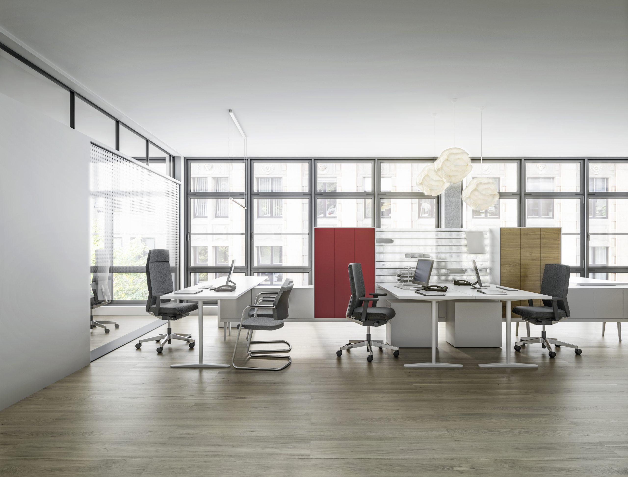 Interstuhl Yoster Arbeitsplatz Gruppenbüro Bürostühle