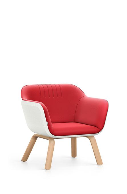 Interstuhl HUB HU142 Sessel Lounge Wartebereich Vierfuß