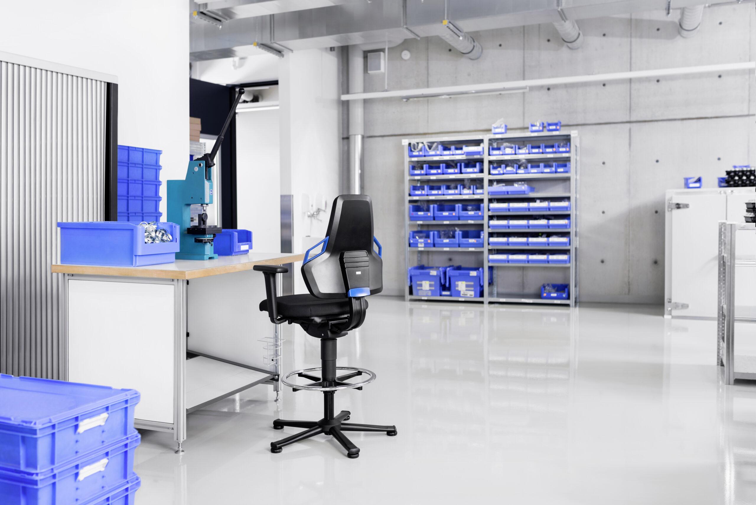 Bimos Arbeitsstuhl Nexxit Produktion Industrie
