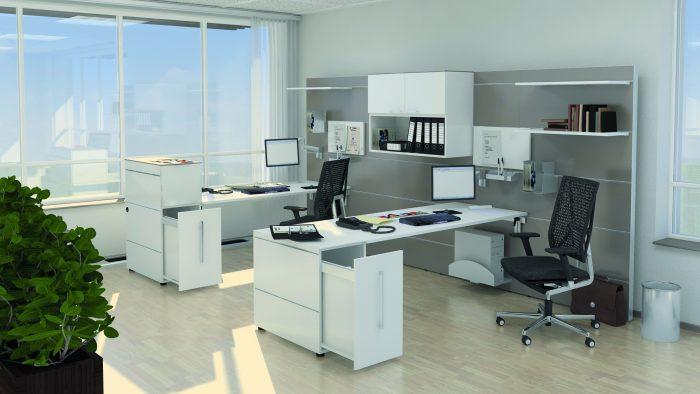 Multiwa Arbeitsplatz KLAIN Tisch Container