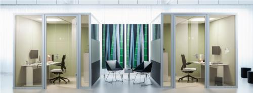 Raum im Raum Akustiklösung Preform Besprechung Meeting